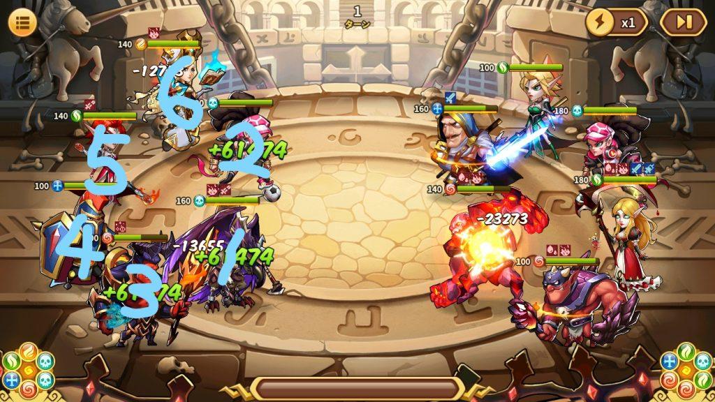 アイデルヒーローズ攻略:キャラ配置役割と陣営オーラ